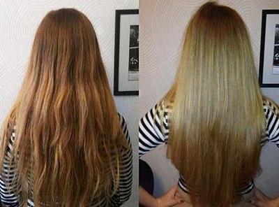 Ламинирование волос фото до и после