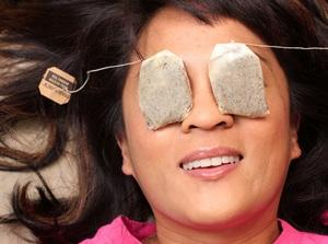 чайные пакетики на глаза