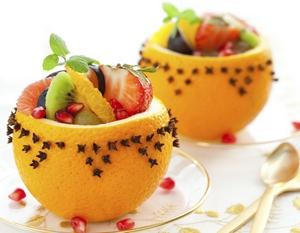 Легкие фруктовые десерты на Новый год