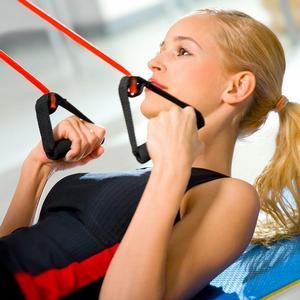 упражнения с резиновым эспандером для женщин